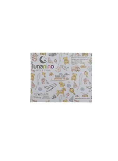 Lunanino Müslin Bebek Ağız Bezi 5 Adet Unicorn Beyaz